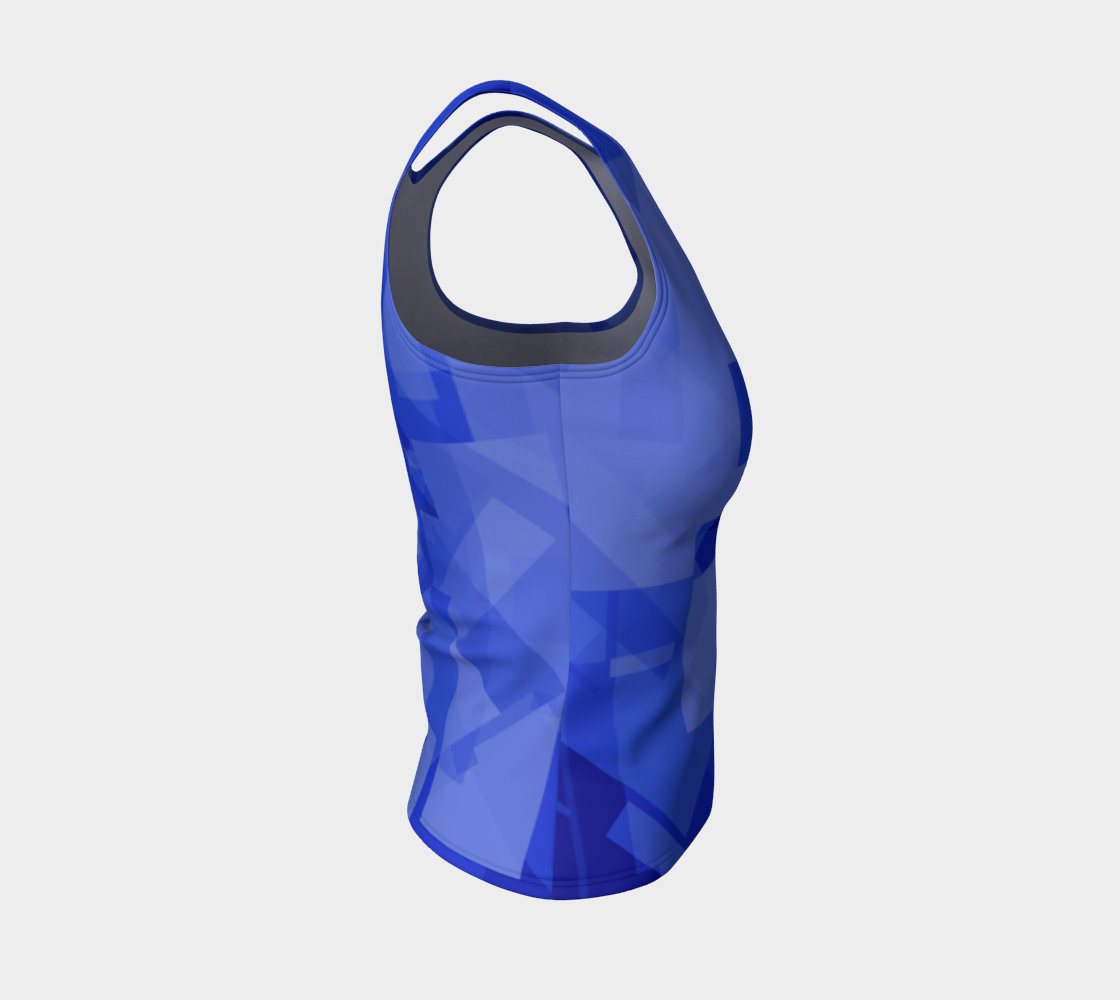 Blue is Better Fitted Tank Top preview #4