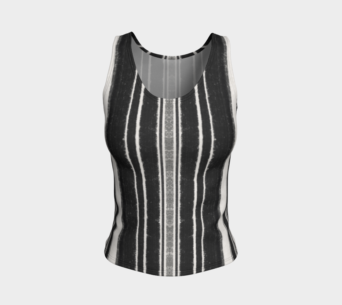 Raven Stripe Fitted Tank Top preview