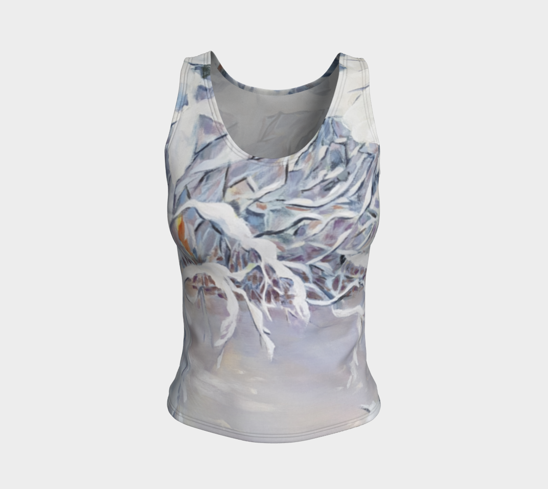 Snowy Boughs Fitted Tank Top preview