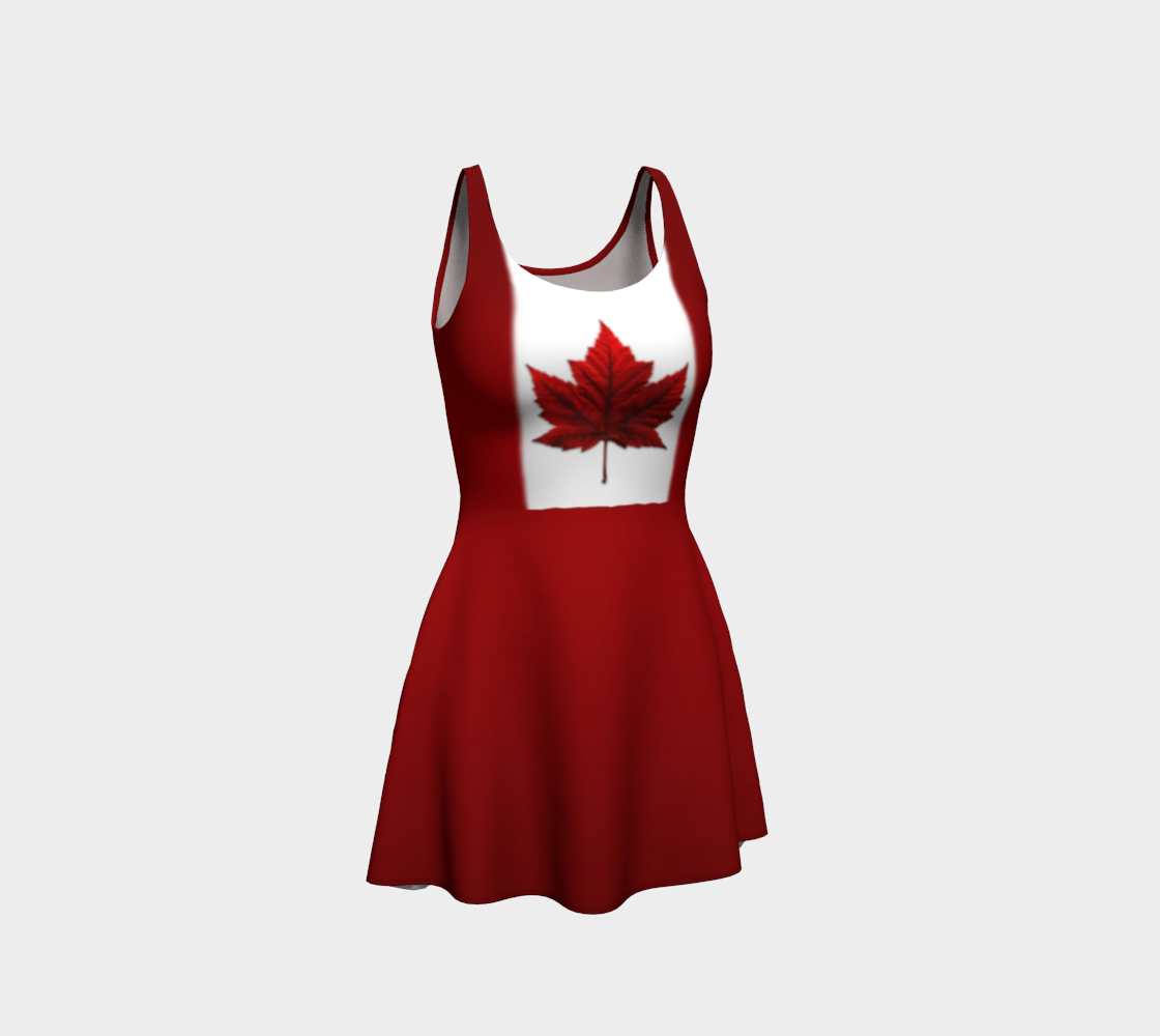 Canada Flag Dresses Classic Canada Flared Dress preview