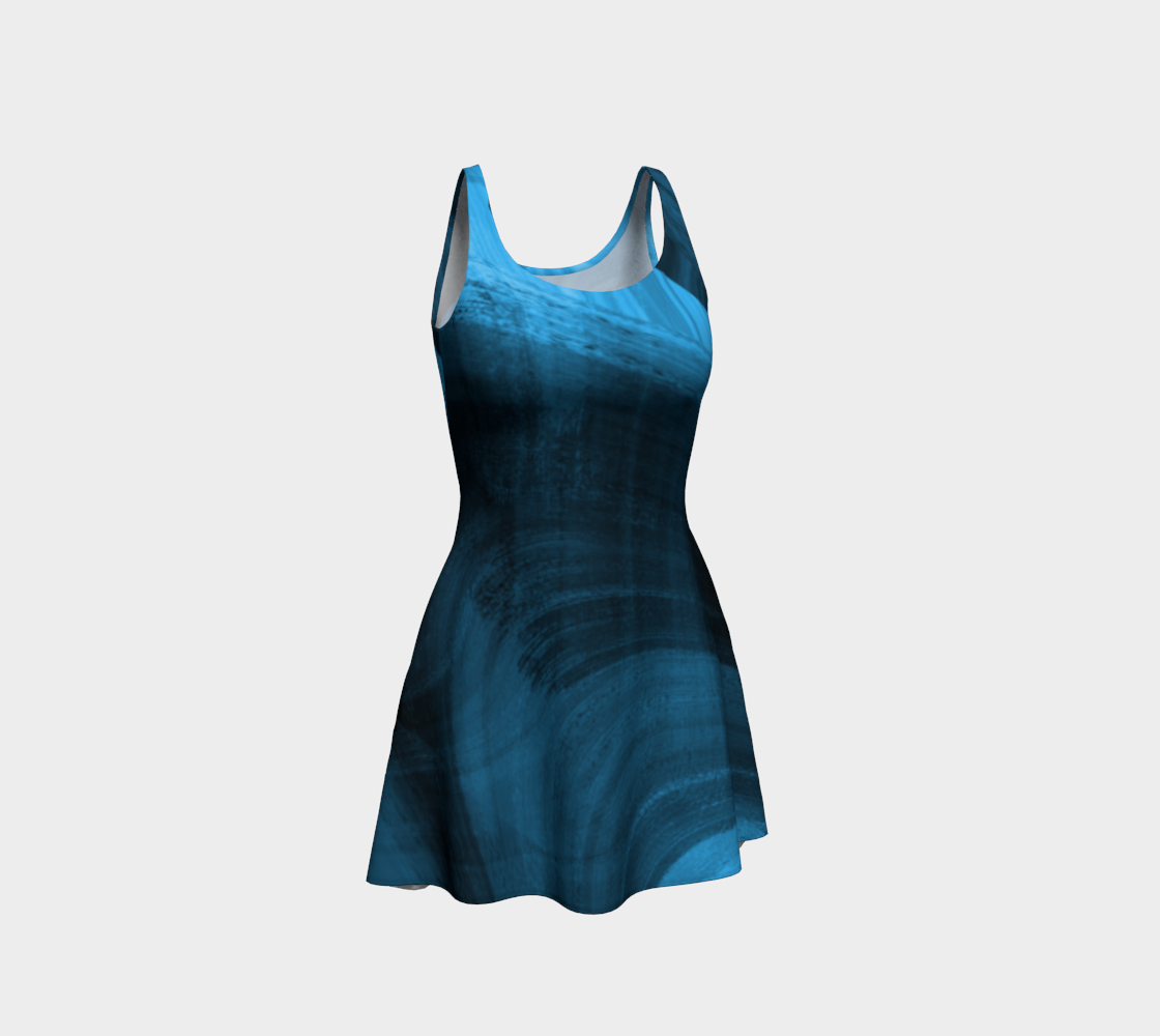 Bluish Black Hole Flare Dress preview