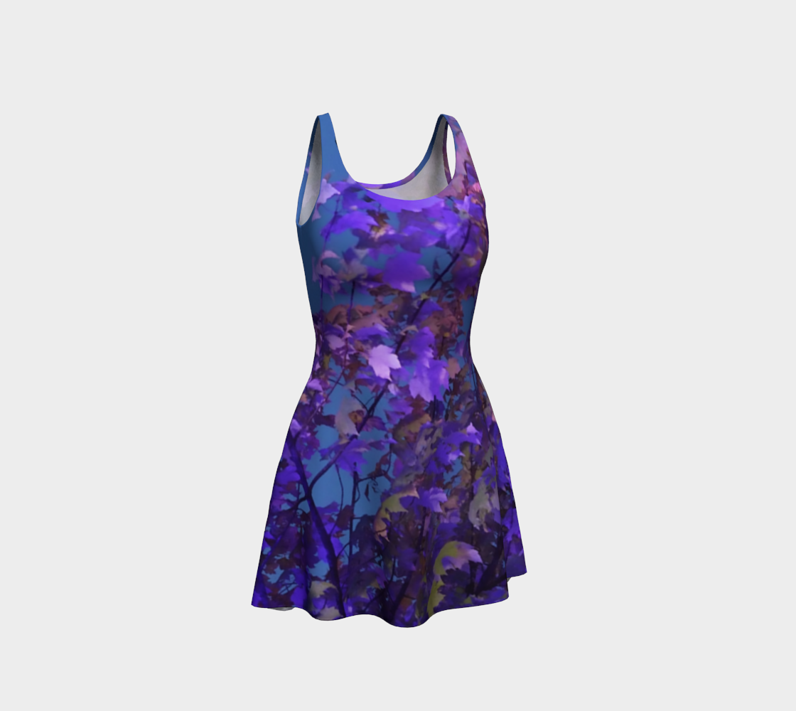 Illuminated Blue & Purple Leaves  preview