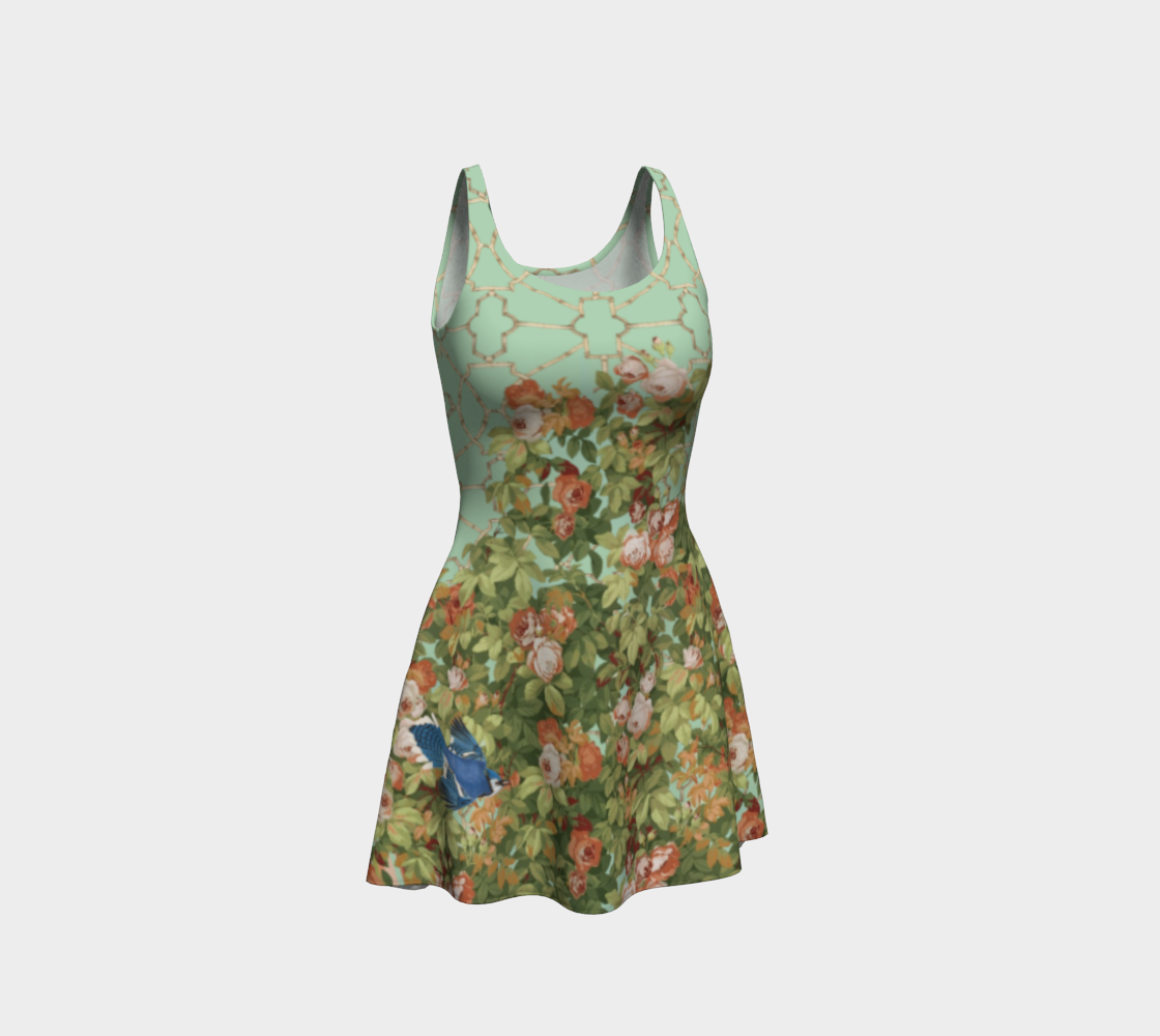 Roses Flare Dress preview