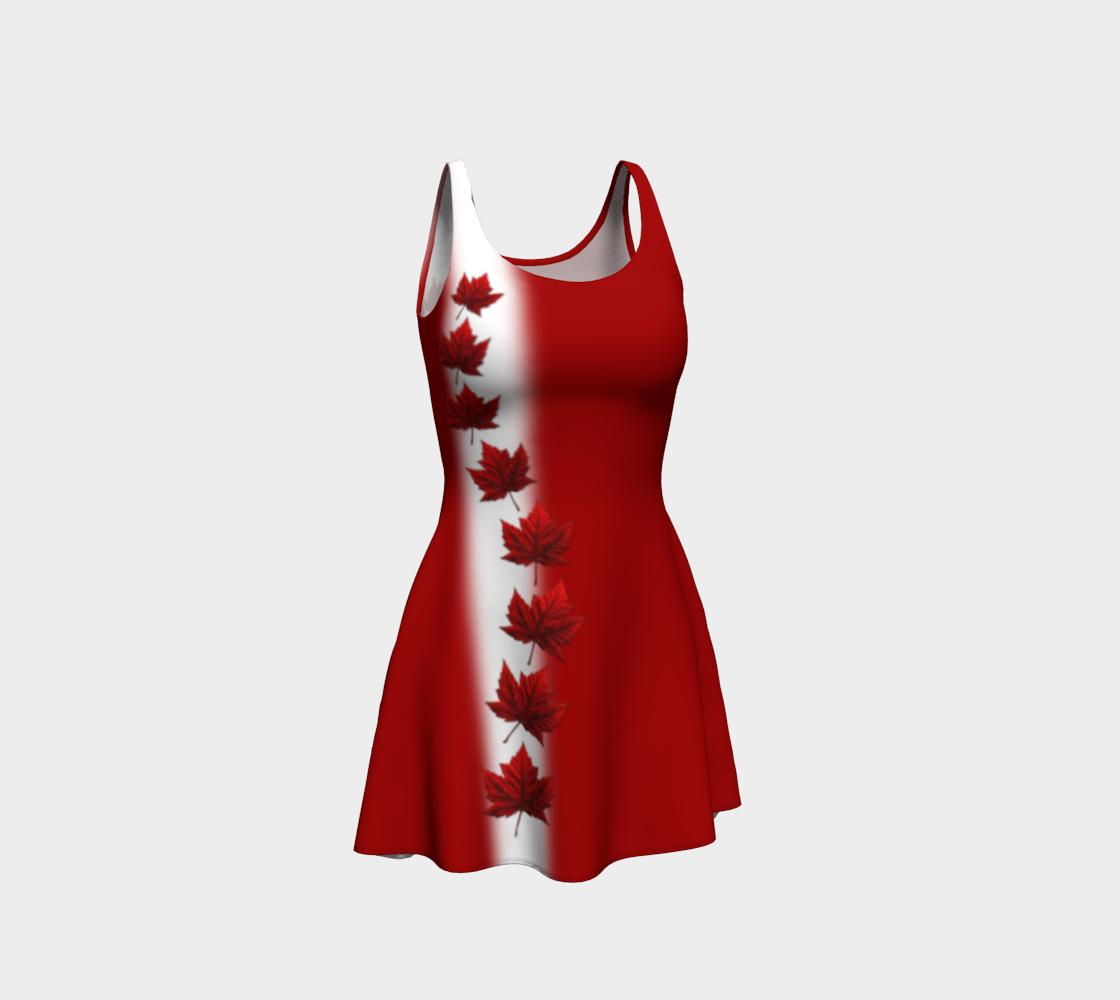 Canada Dress Flared Canada Flag Dresses preview