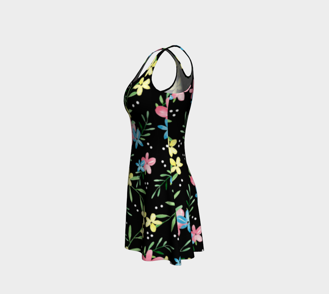 Floral Watercolor Flare Dress preview #2
