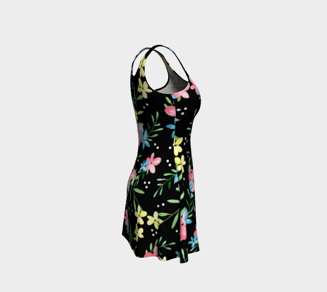 Floral Watercolor Flare Dress preview #4