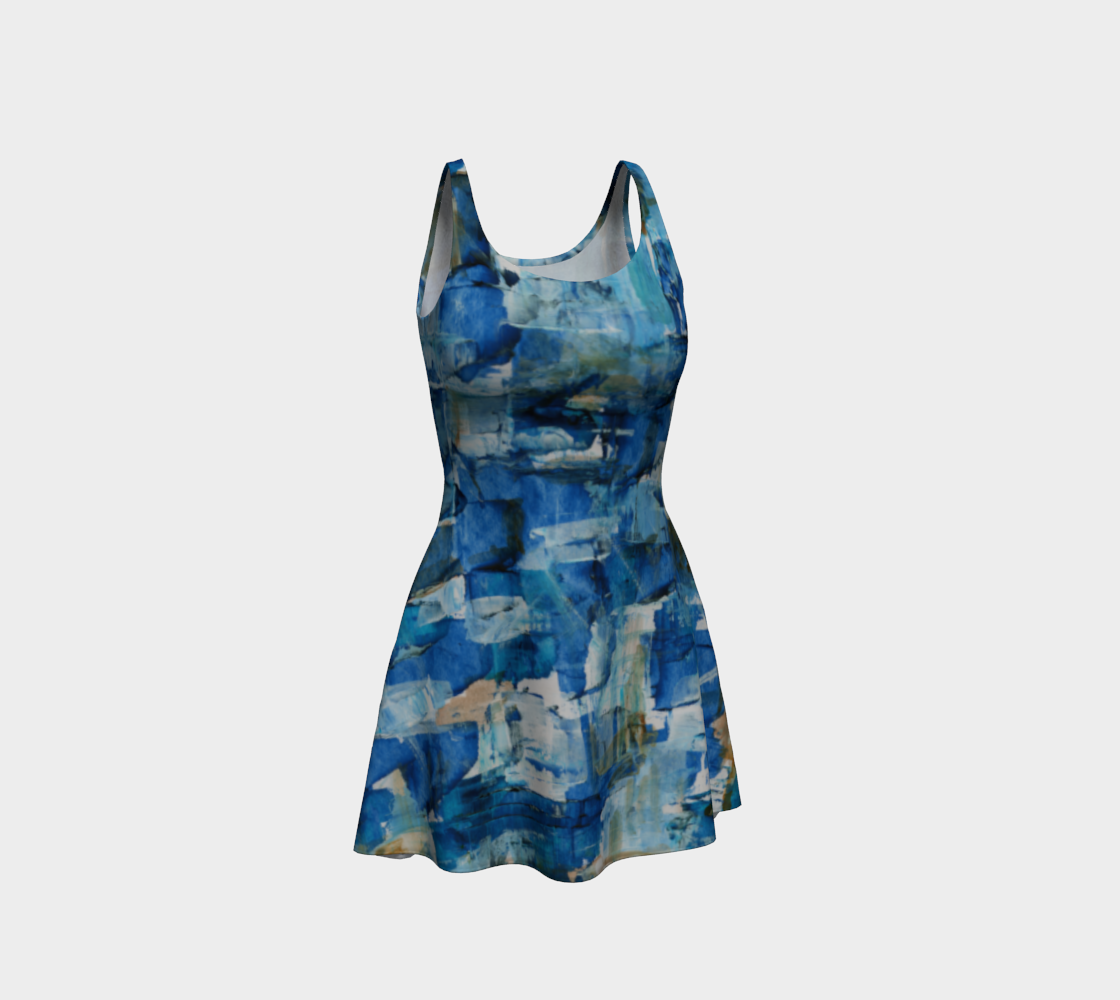 Ocean Chess Flare Dress preview