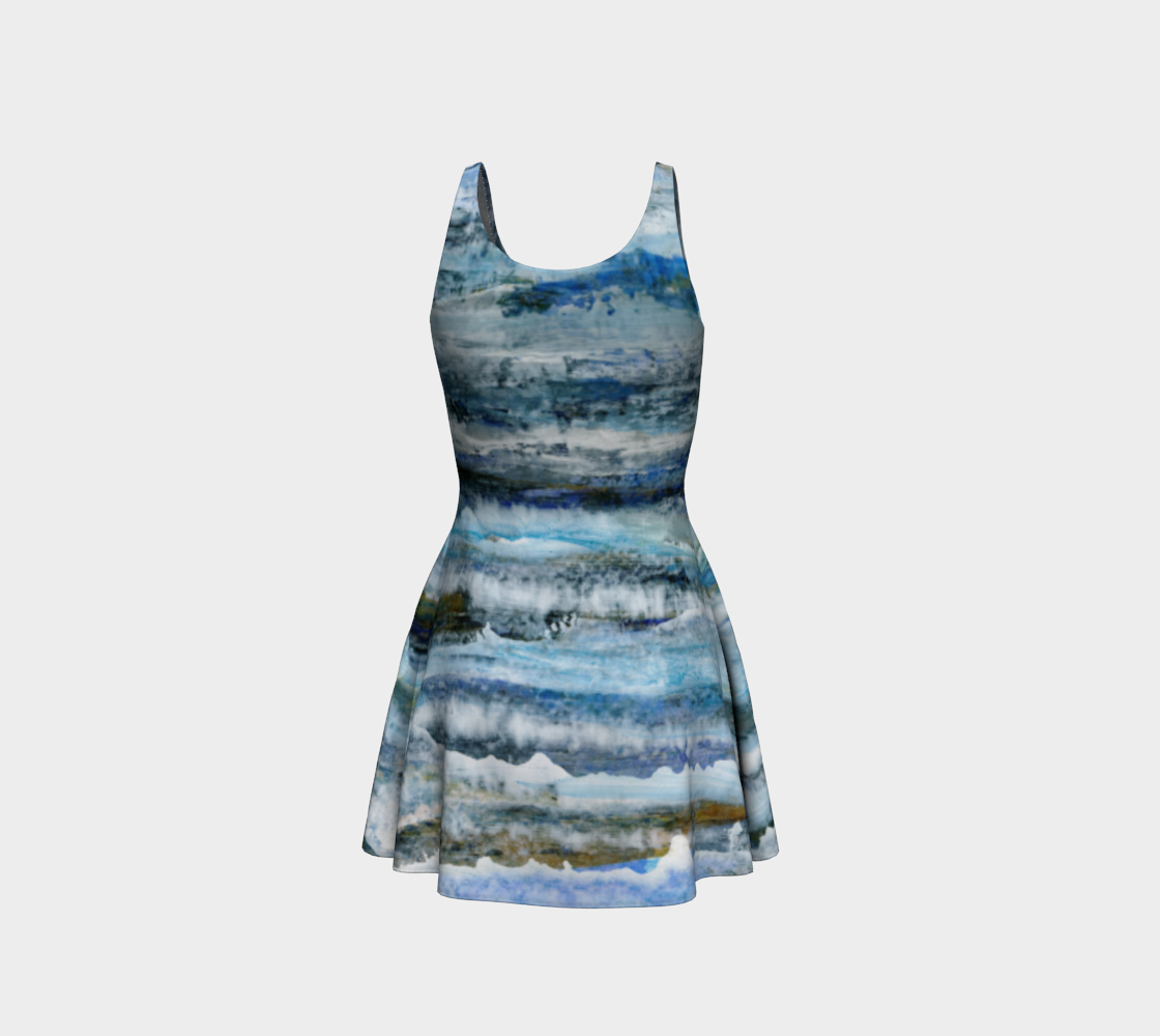 Ocean Waves Flare Dress preview #3