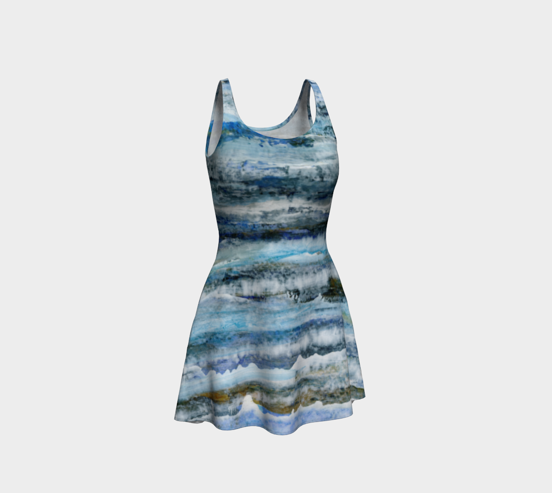 Ocean Waves Flare Dress preview #1