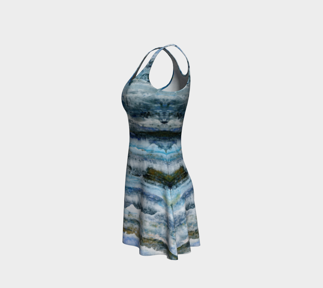 Ocean Waves Flare Dress preview #2