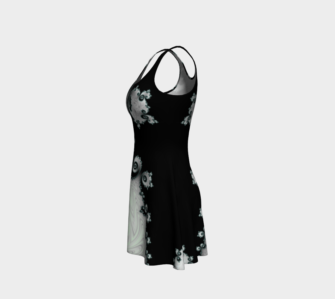 Cascading Satin Flare Dress preview #2