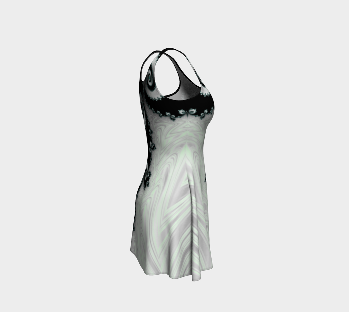 Cascading Satin Flare Dress preview #4