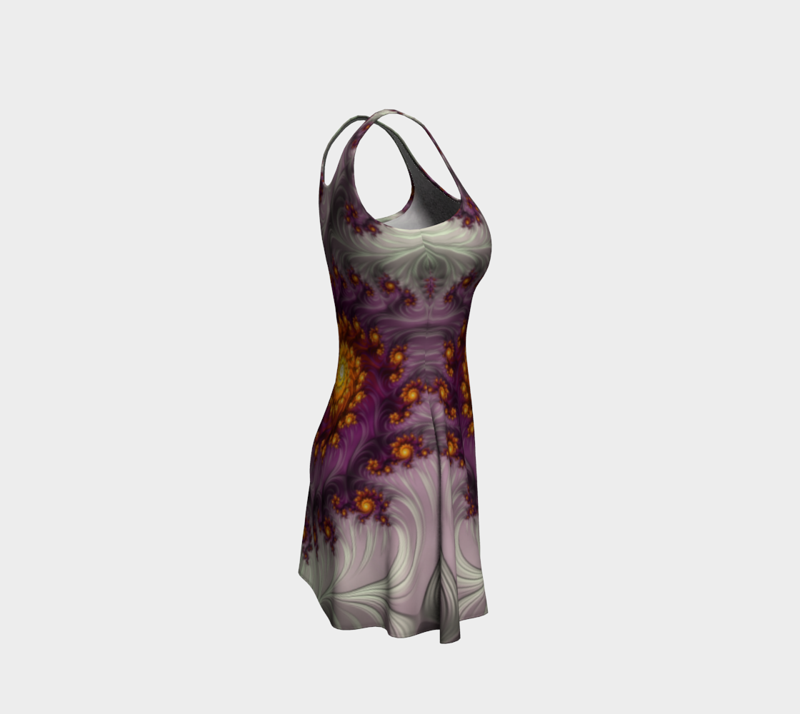 Saffron Frosting Flare Dress preview #4