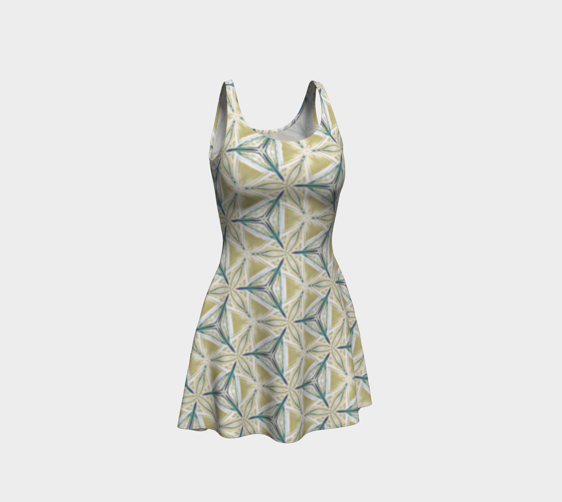 Avocado Pattern Flare Dress preview