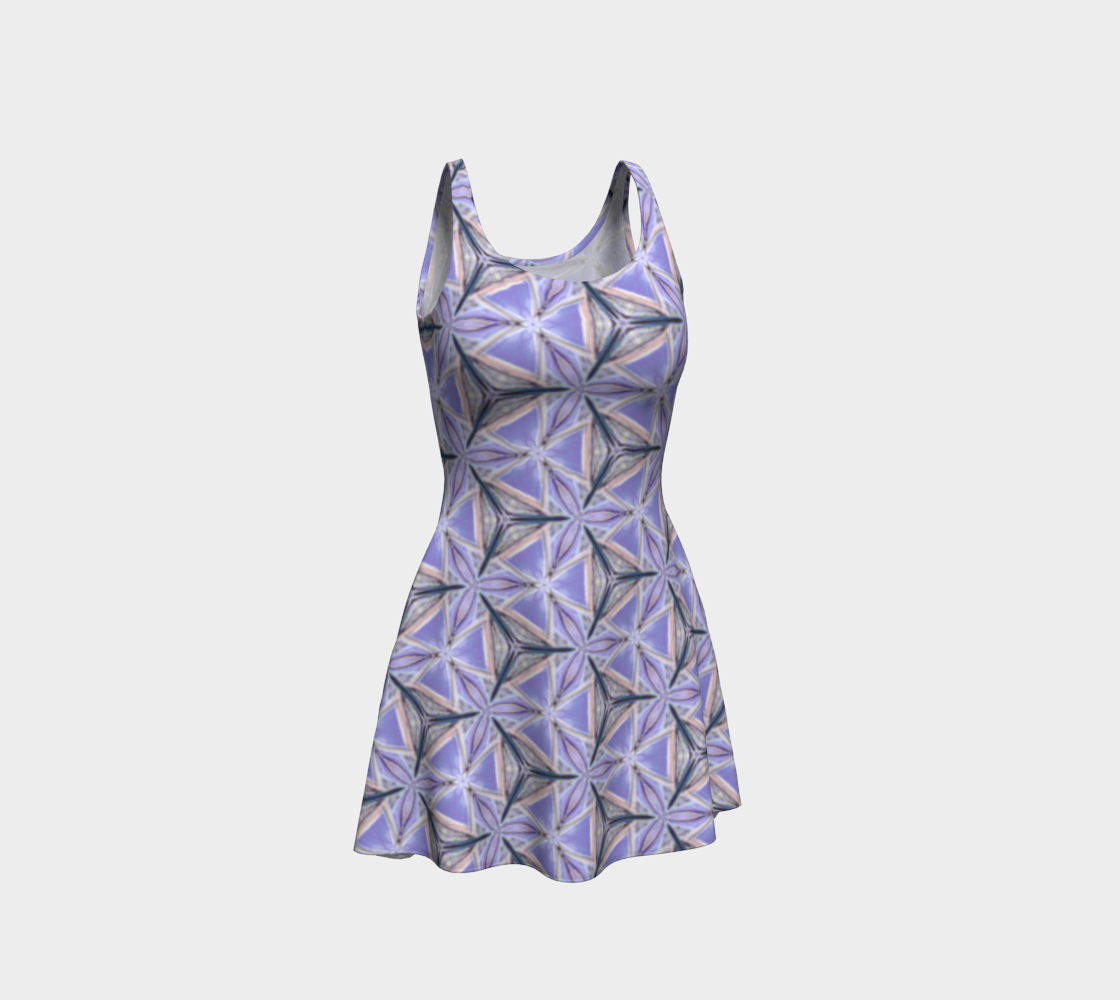 Lilac Bliss Pattern Flare Dress preview