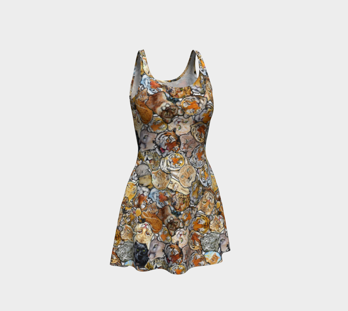 Aperçu de Big Cat Collage - flare dress