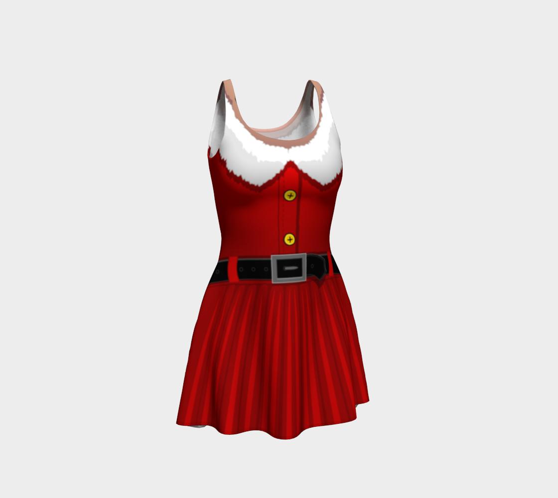 Santa Costume Dress Festive Christmas Dresses Flared preview