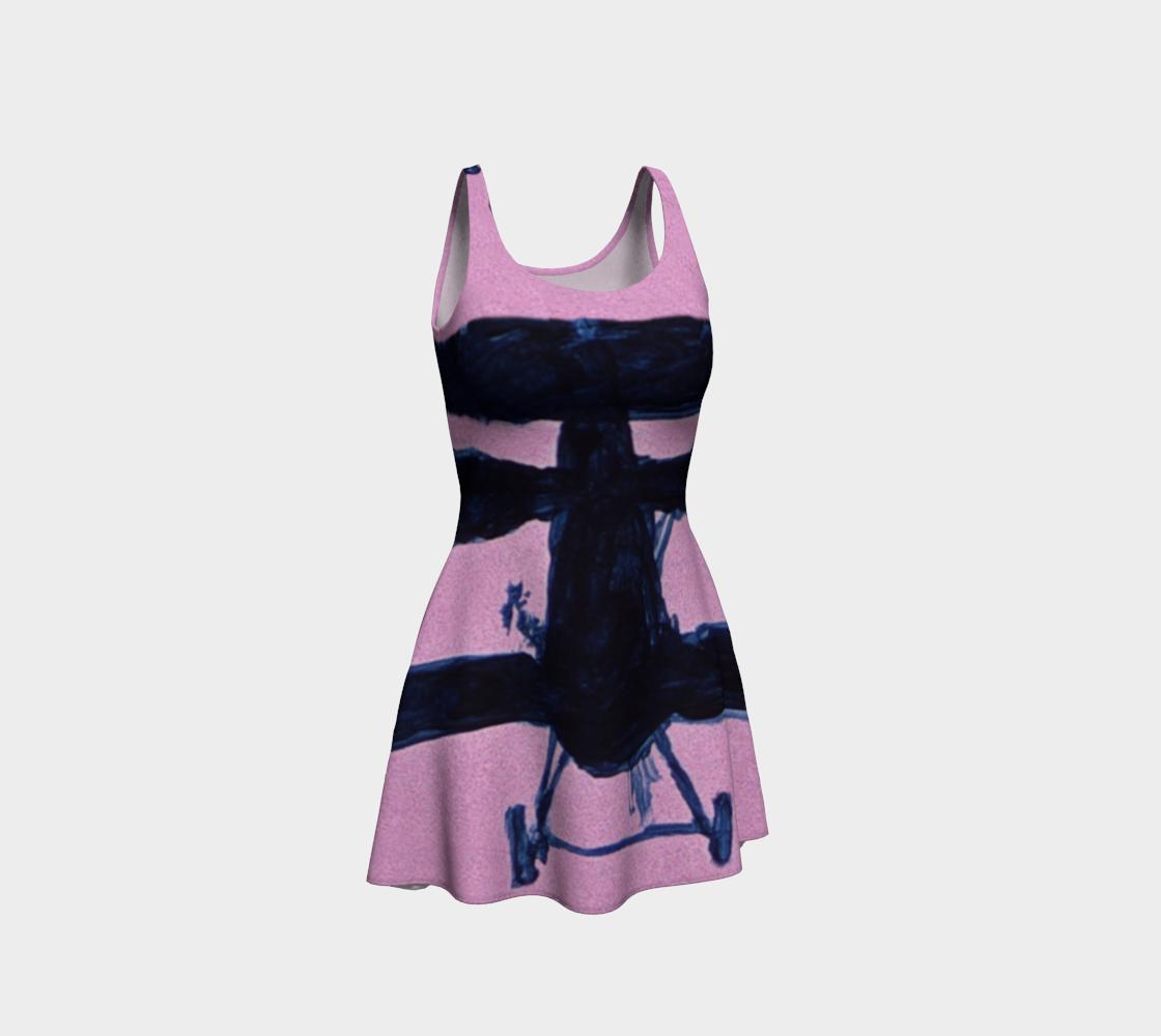 Fashion Sky-Plane Power Silhouette Dress preview