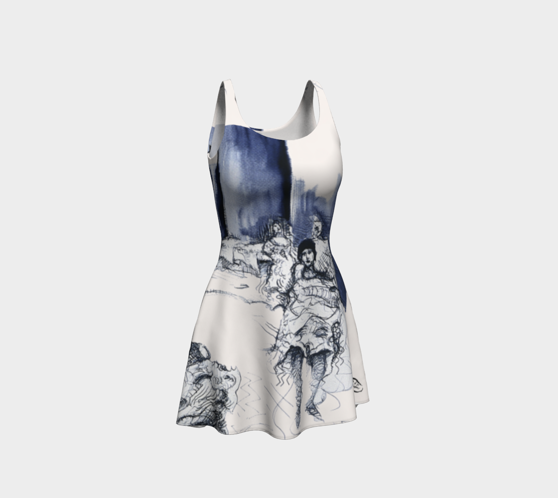 Place Blanche Watercolor-Drawing Dress preview