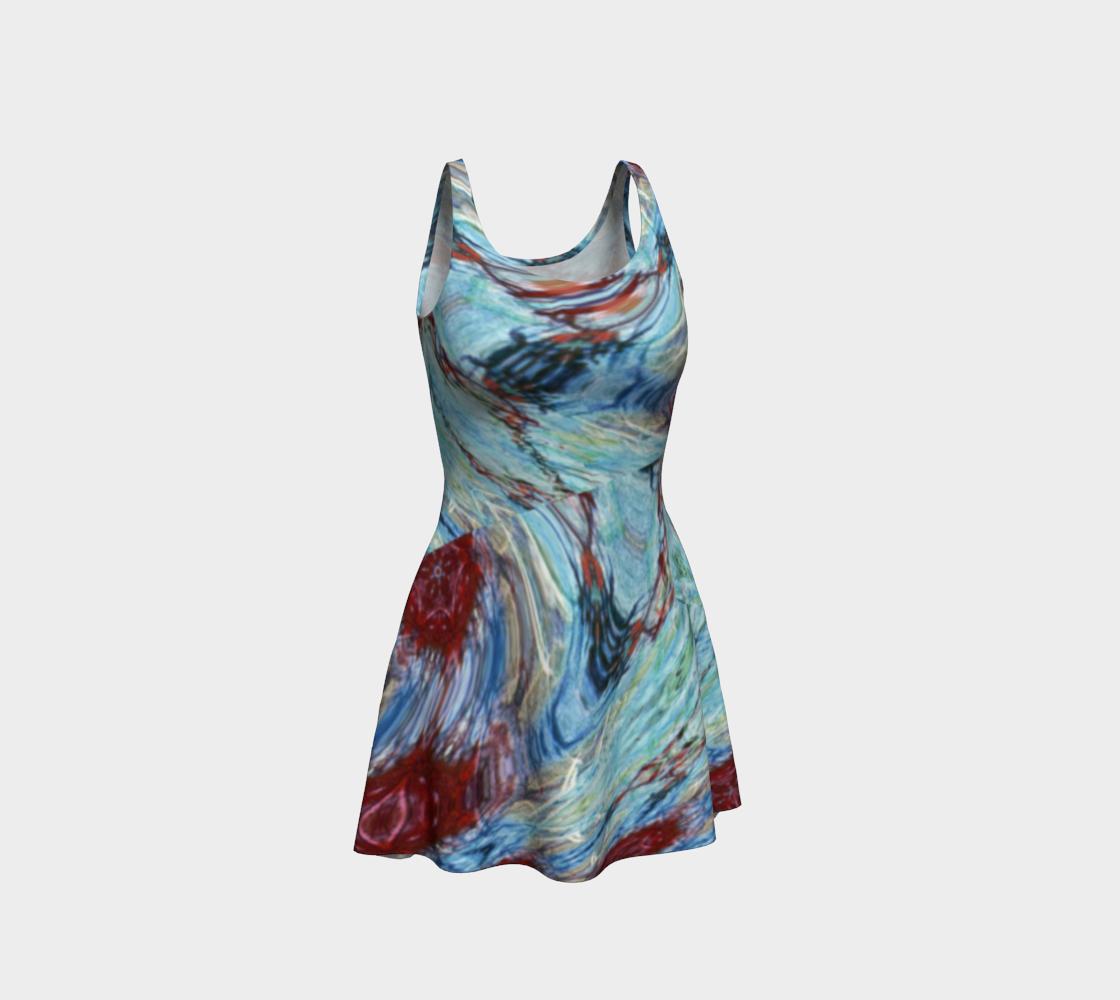 Windswept Crimson Harbor Flare Dress preview