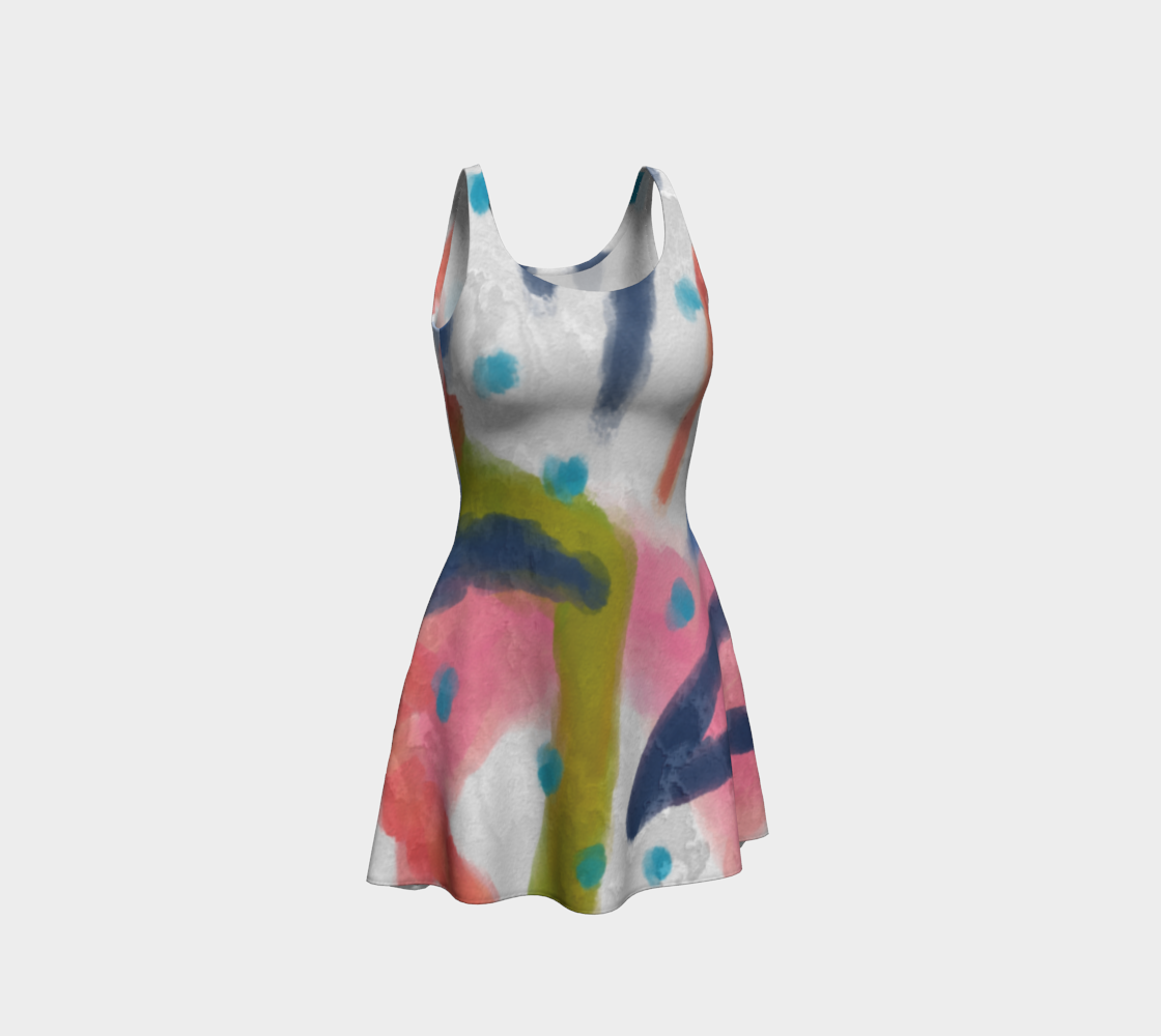 Funky Abstract Art to Wear Dress preview