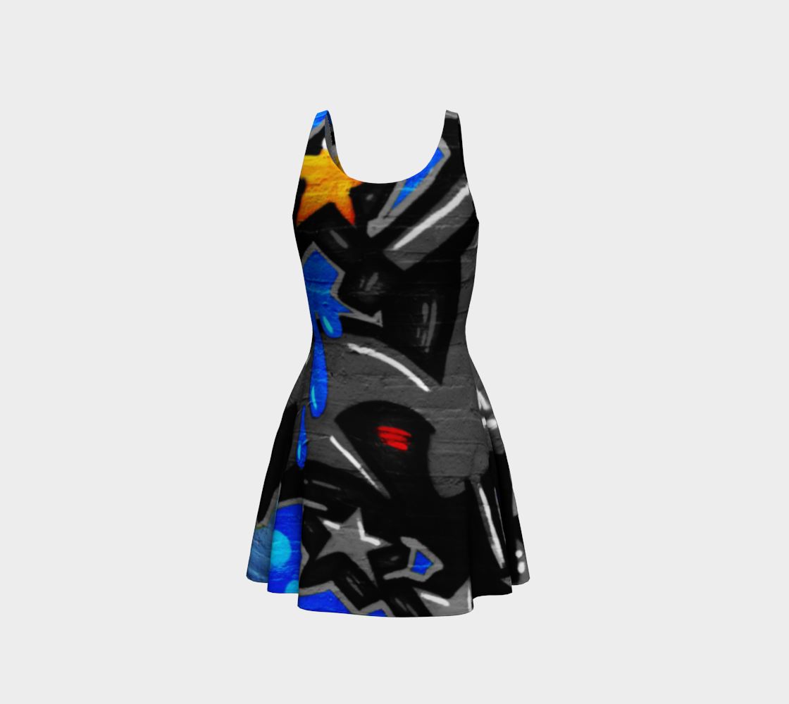 Graffiti 3 Flare Dress preview #3