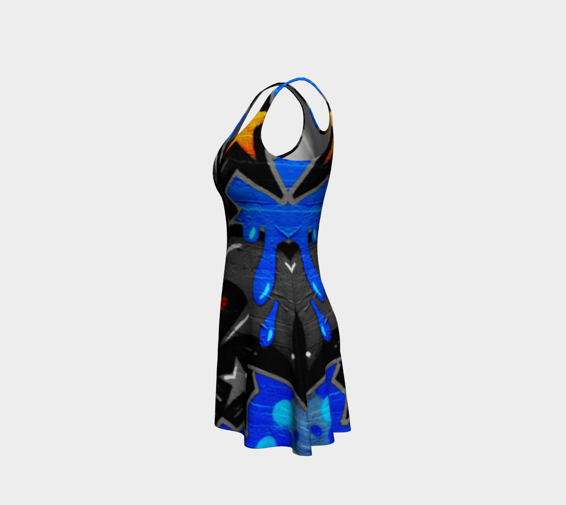 Graffiti 3 Flare Dress preview #2