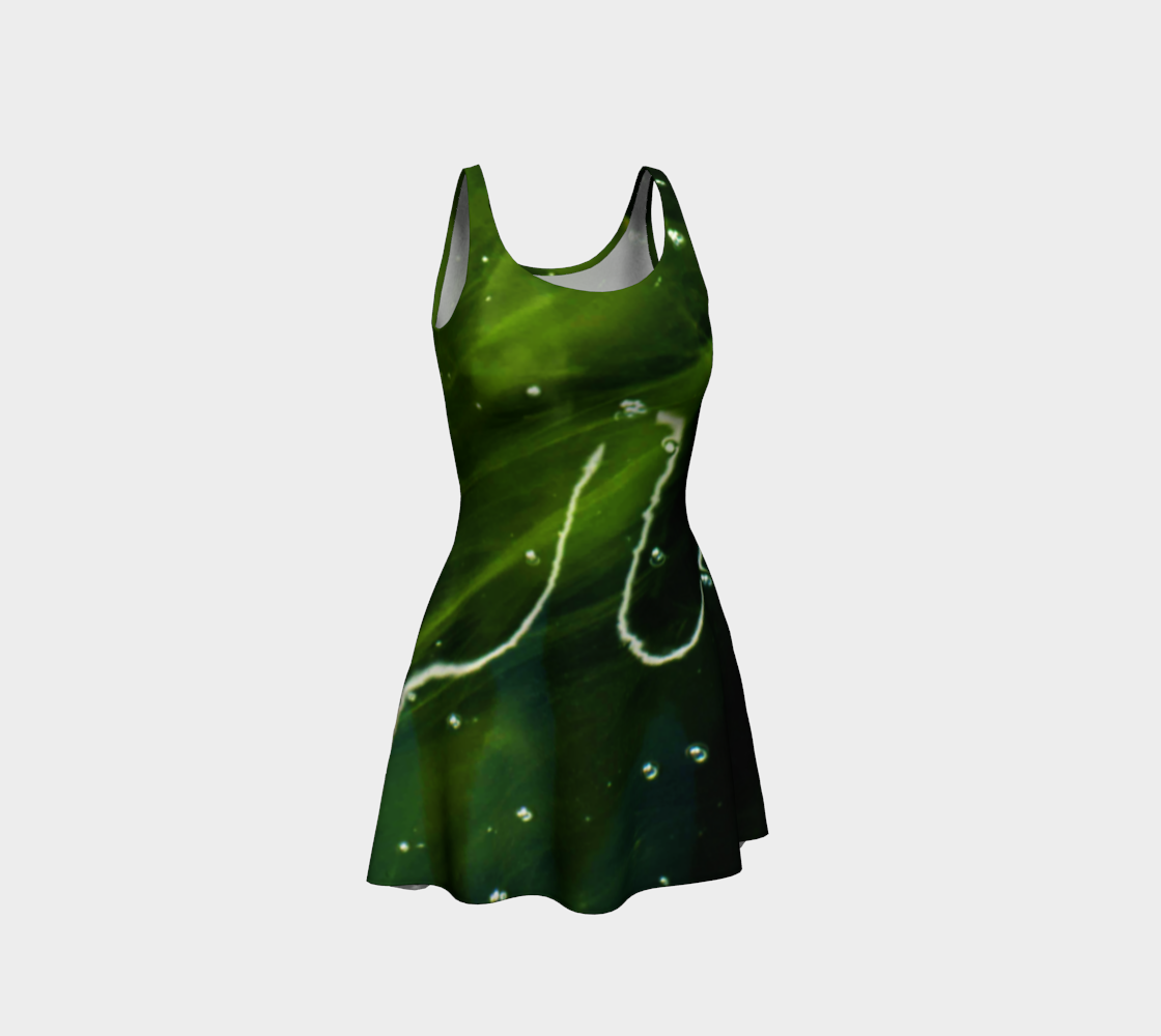 Green Algae and Water Flare Dress preview