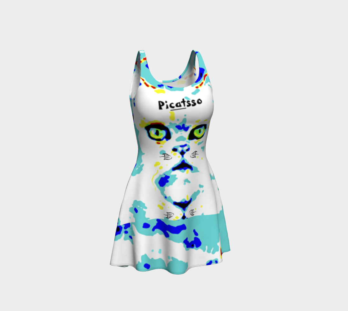 Picatsso / Official Crazy Catnip Dance Flare Dress preview
