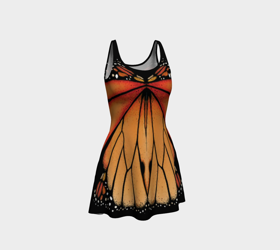 Canada Monarch Butterfly Flare Dress preview