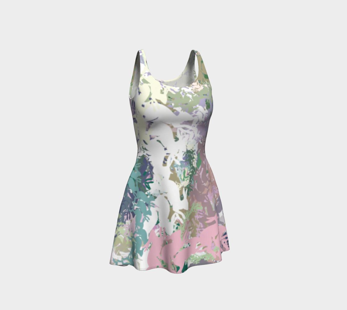 Random Rabbits All-Over Print Dress preview