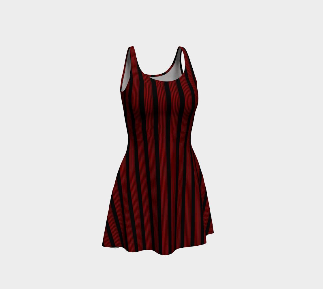 Aperçu de Robe evasée bandes noir/rouge