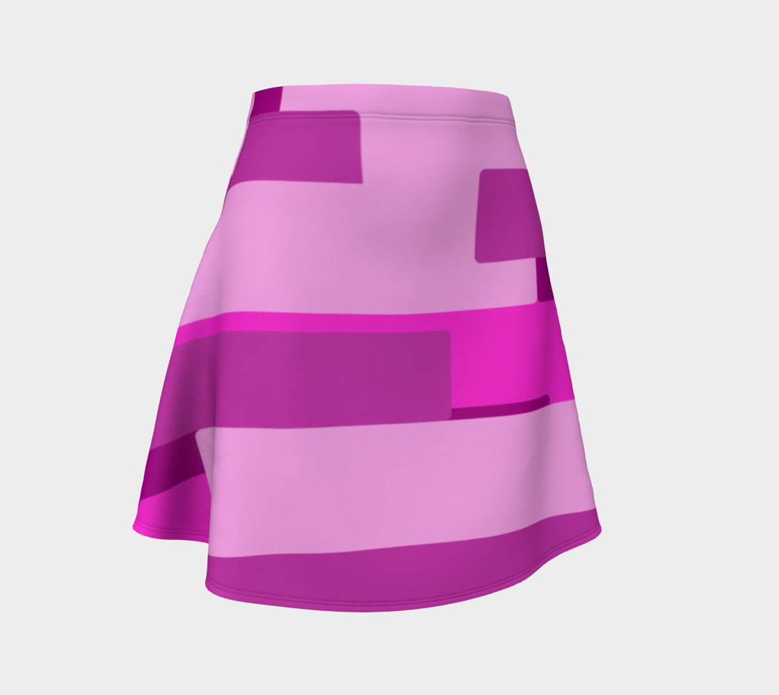 Pink Abstract Flare Skirt preview