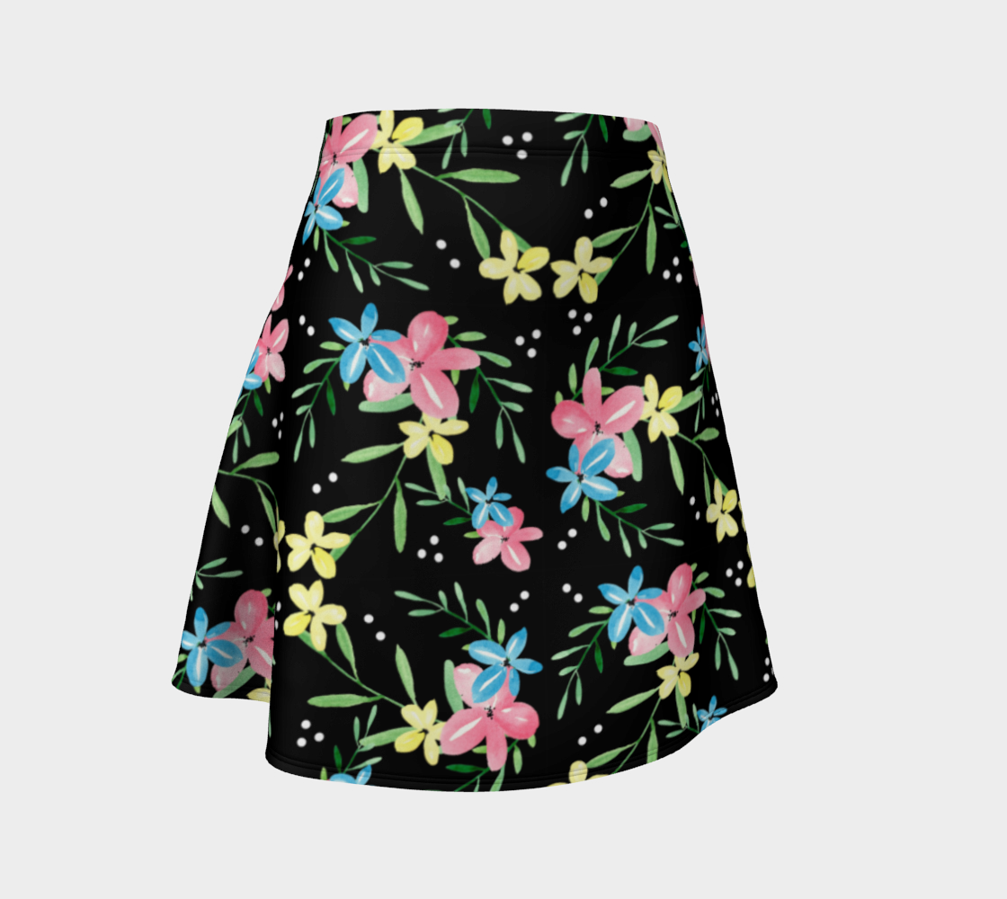 Floral Watercolor Flare Skirt preview