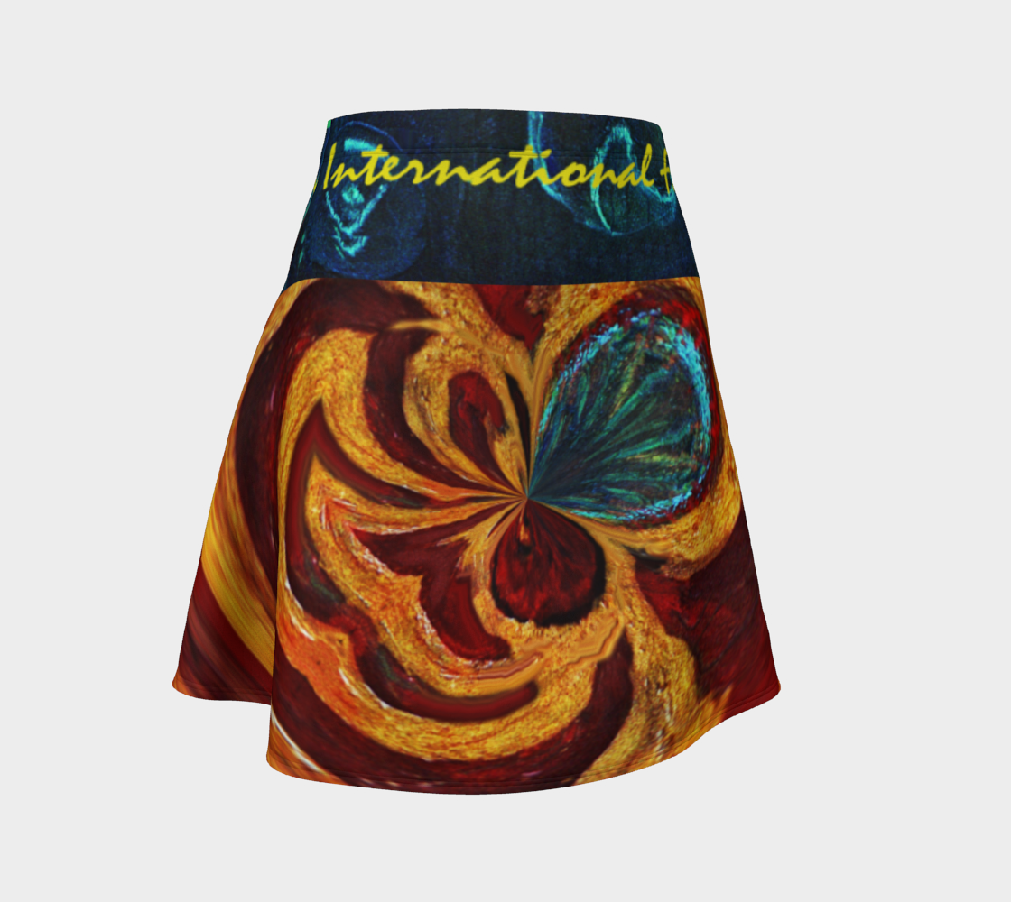 OFFICIAL INT'L FINE ARTIST'S FLAG FLARE SKIRT preview