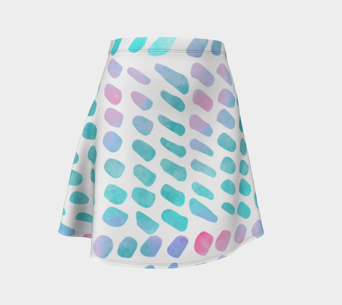 Pink and Blue Cotton Candy Flare Skirt preview