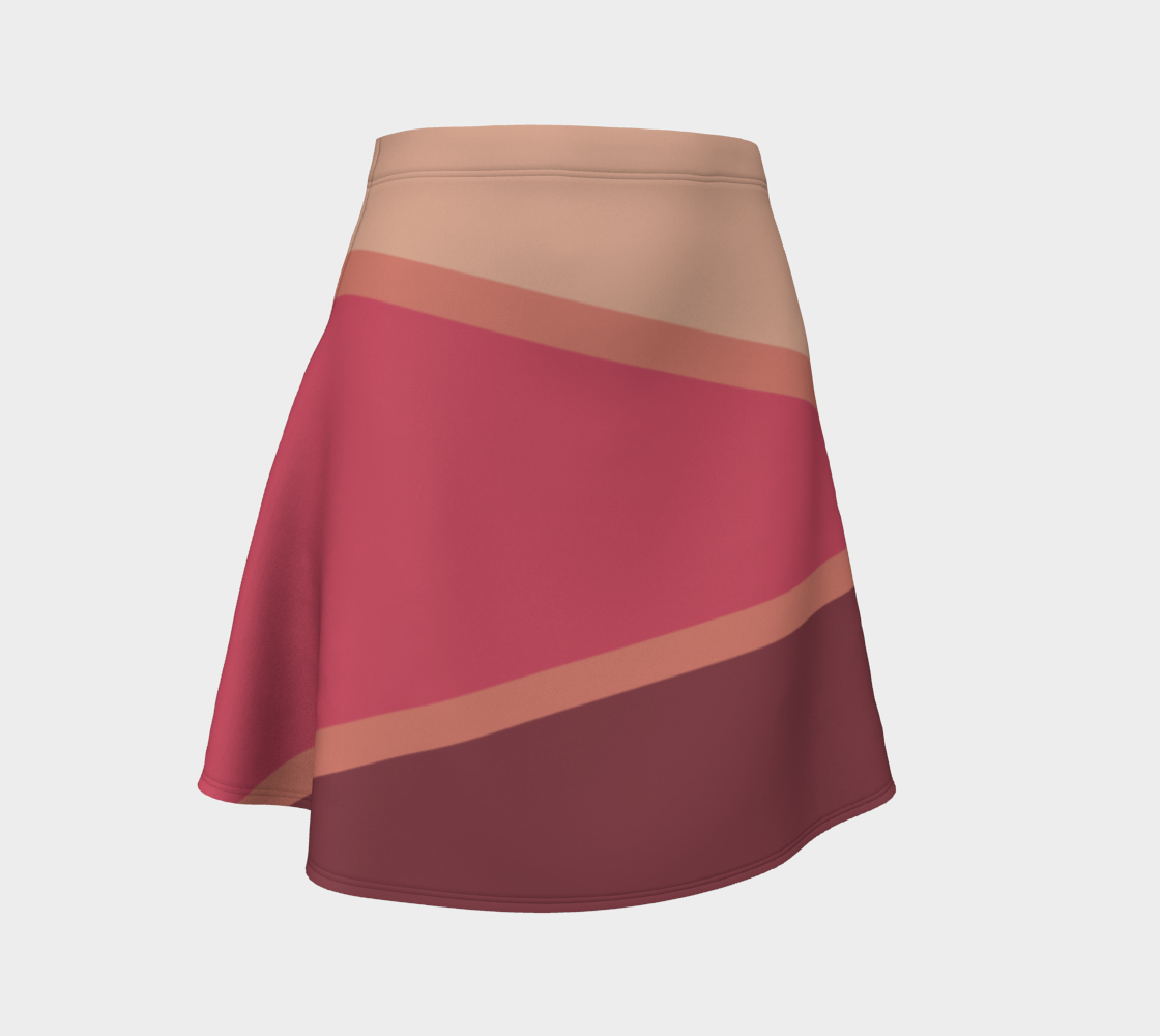Romantic Blush Triangle Pattern Flare Skirt preview