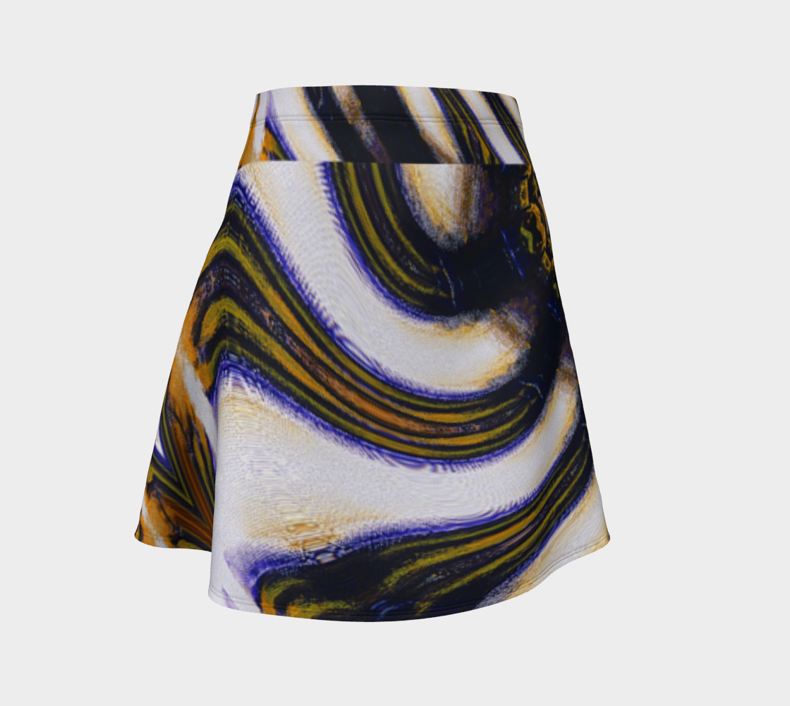 Tiger Swirl Skirt with Waistband Accent preview