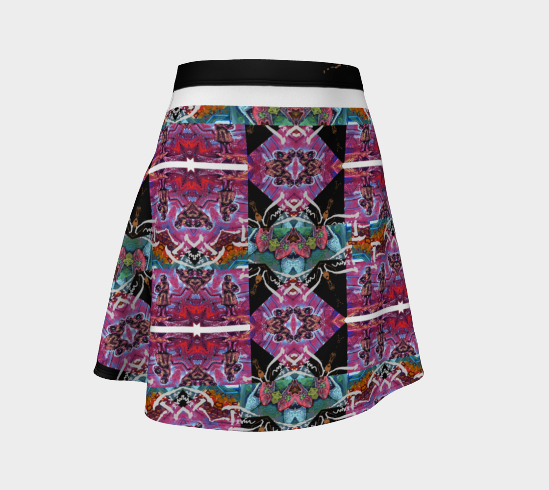 Devin Abstract-Avatar Tartan Print Flare preview