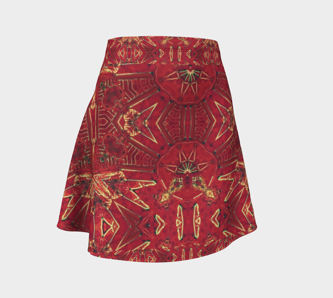 Red Ice Crab Claw Flare Skirt preview