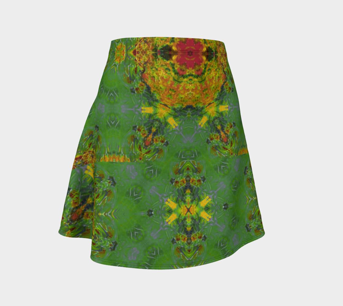 Becket Criss-Cross Green Flare Skirt preview