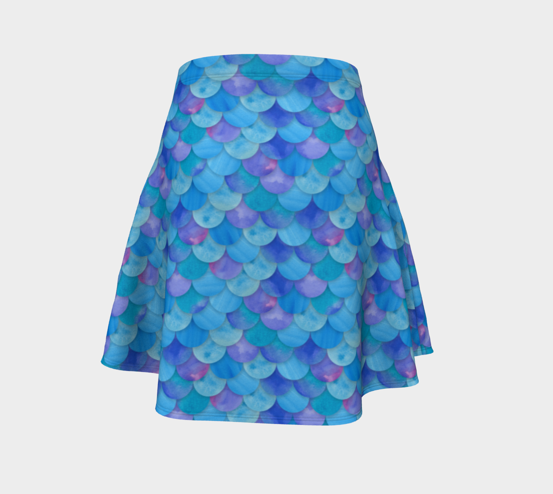 Blue Mermaid Flare Skirt preview #4
