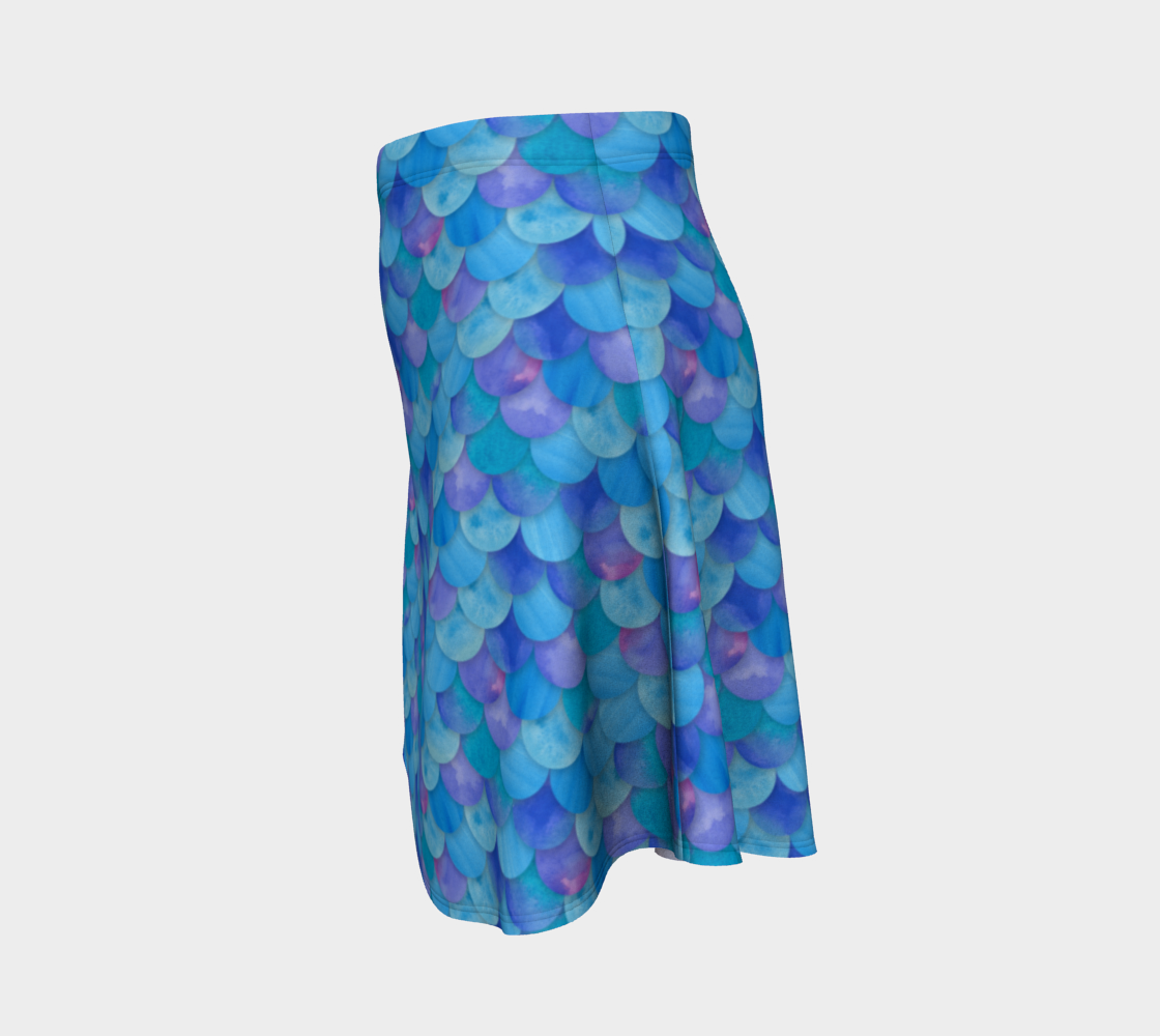 Blue Mermaid Flare Skirt thumbnail #3