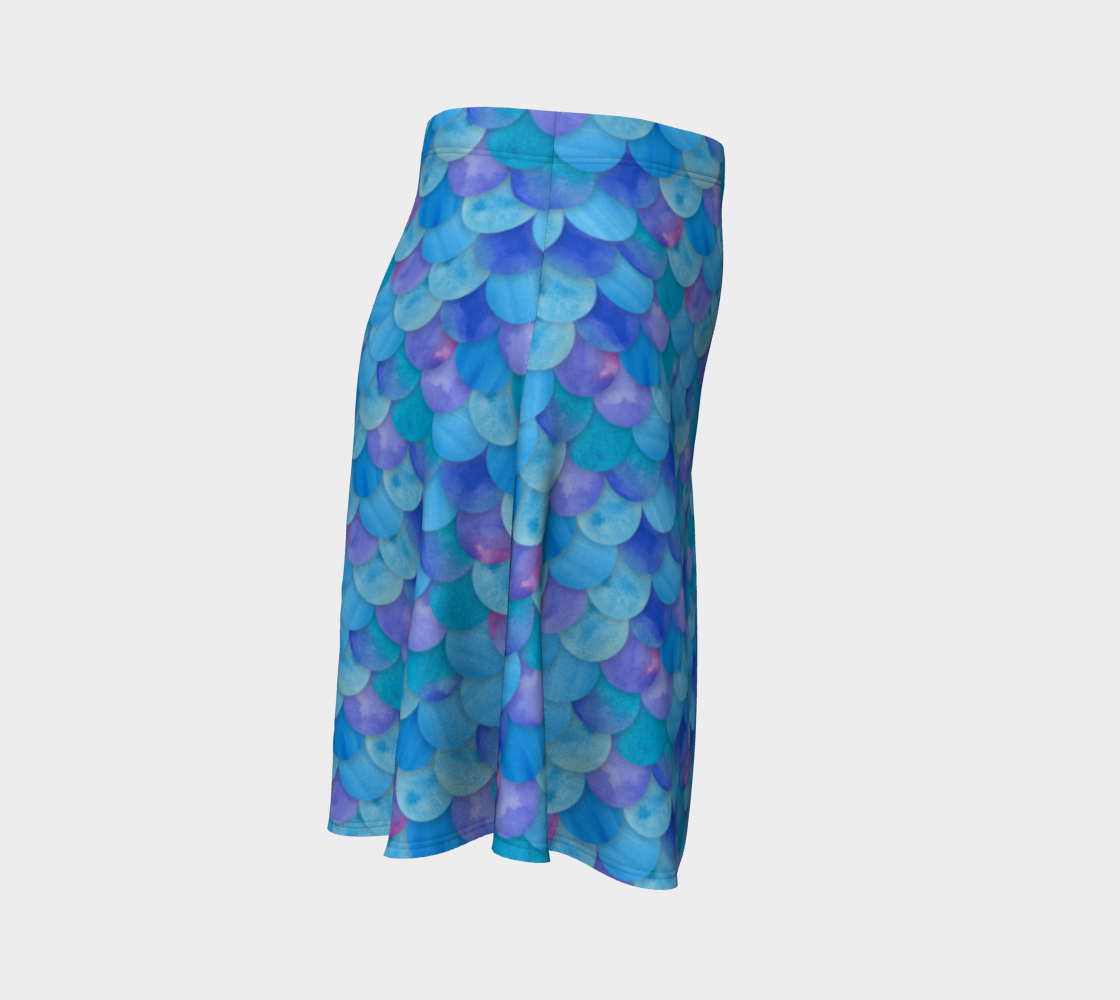 Blue Mermaid Flare Skirt thumbnail #4