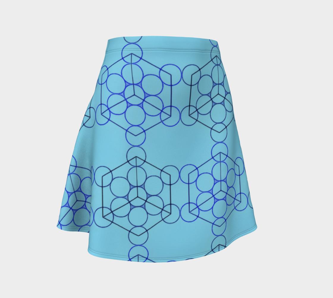 Geometric Tiling Blue Flare Skirt preview