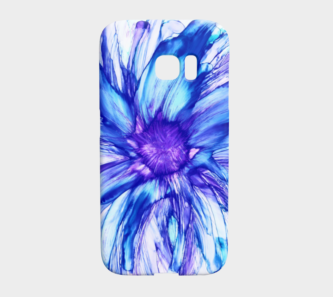 Abstract Blue Daisy preview #1