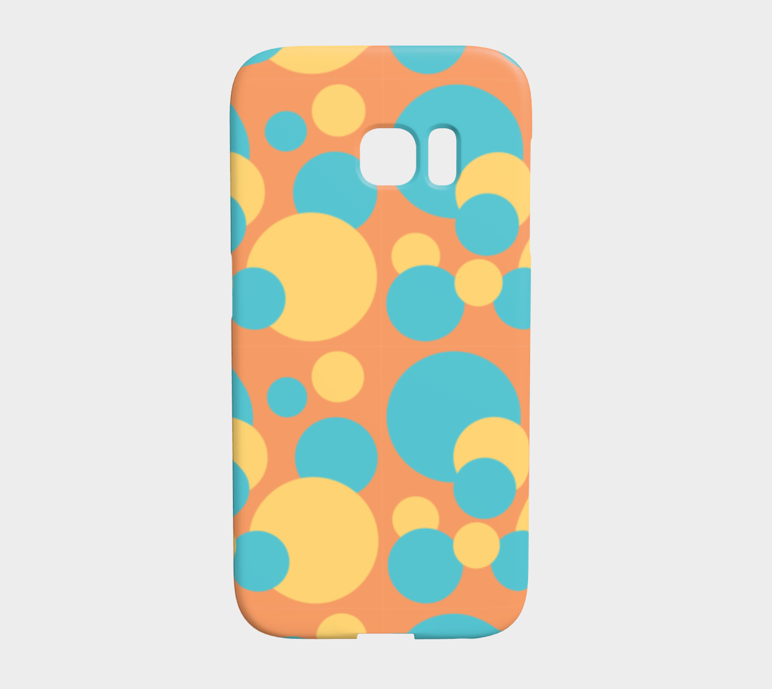 Retro Galaxy S7 Case in Blue and Yellow Dot Pattern preview