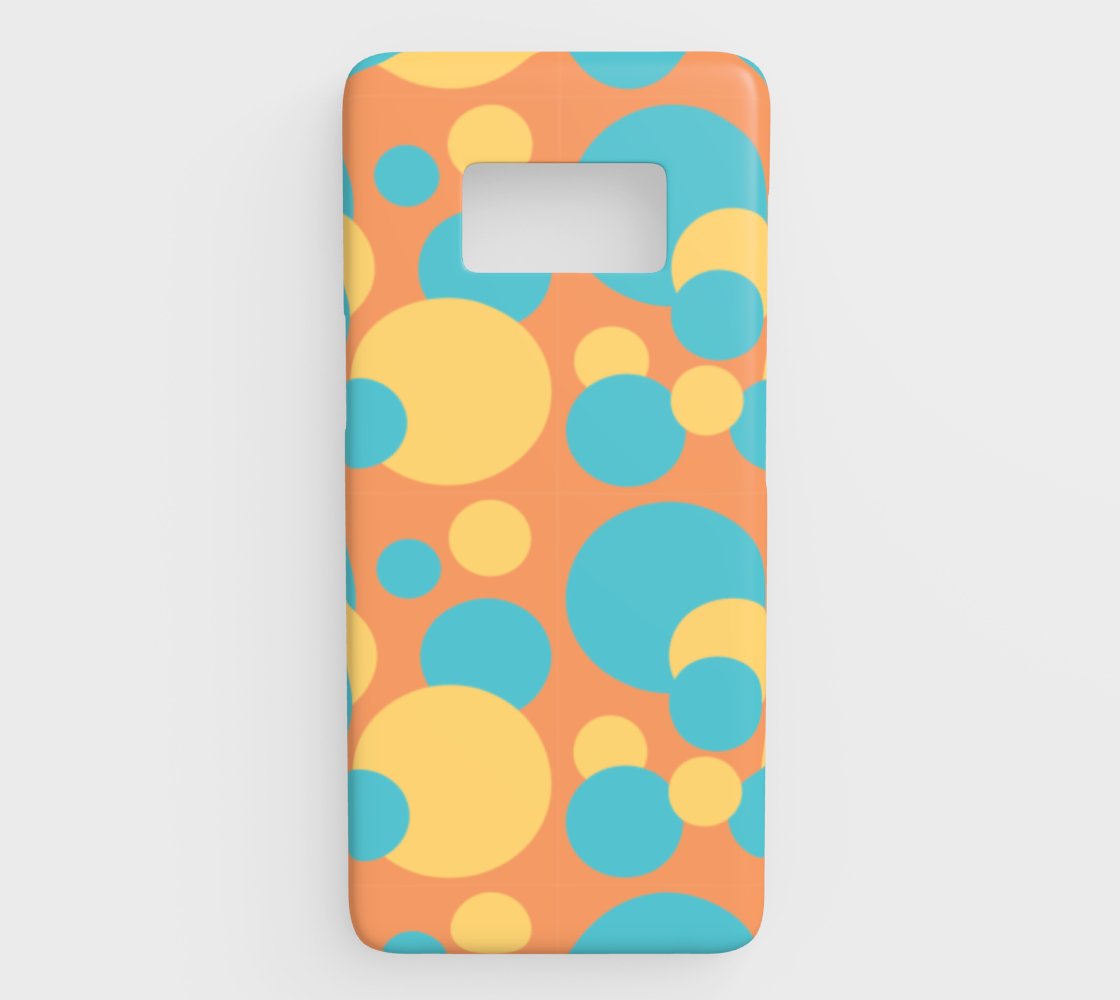 Retro Galaxy S8 Case in Blue and Yellow Dot Pattern preview
