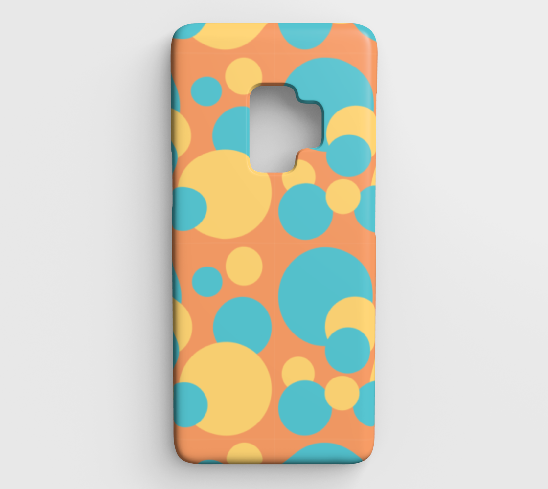 Retro Galaxy S9 Case in Blue and Yellow Dot Pattern preview