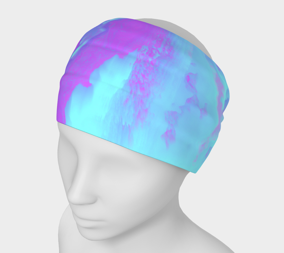 Organized Chaos Glitched Fluid Art Headband preview